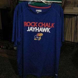 Kansas Jayhawks Rock Chalk Shirt Majestic XL